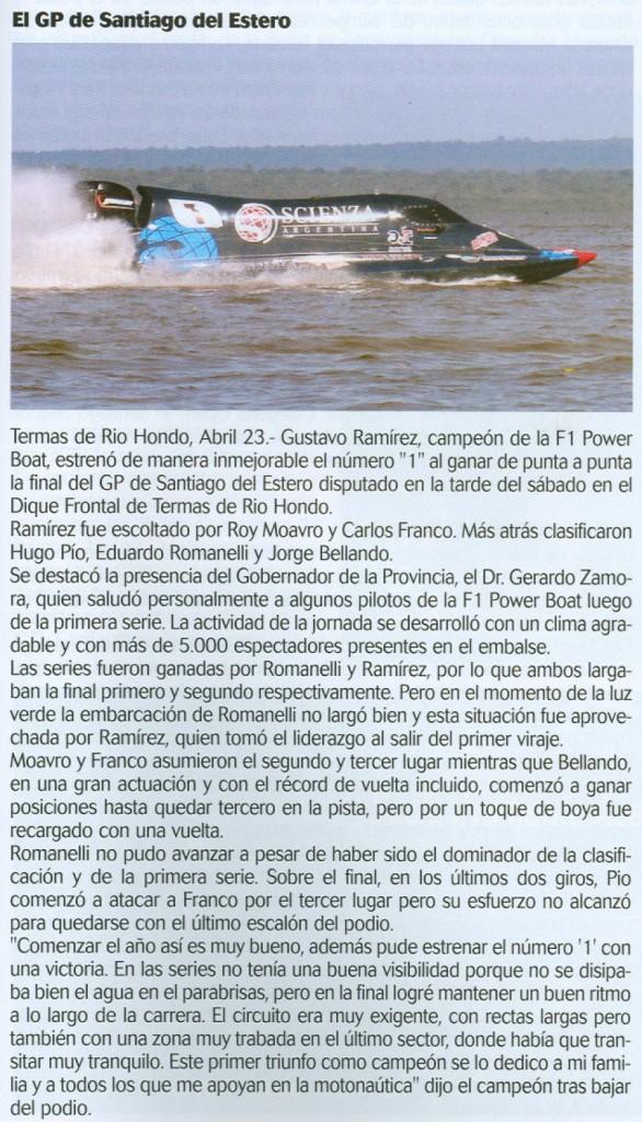 El GP de Santiago del Estero